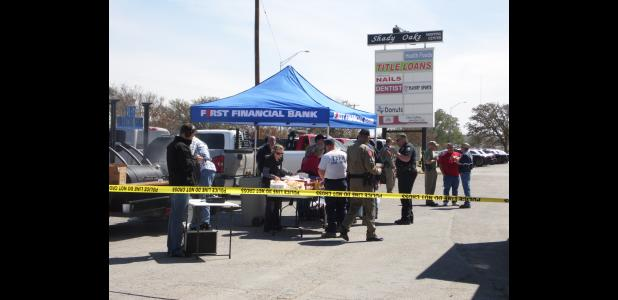 First Financial Bank - Eastland provided Wednesday's noon meal to business owners and first responders.