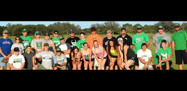 During the last week of school, the May seniors competed in a 'friendly' game of softball with the May faculty.