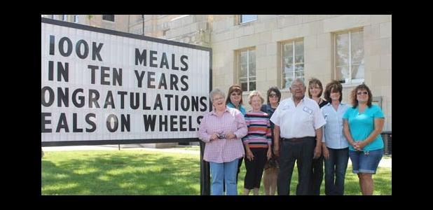 (L-R) Eastland Meals on Wheels Board Members and Staff Machelle Sandlin, Meg Kennedy, Marissa Meeks, Everisto Jimenez, Victoria Jimenez, Mary Jo Smith, Francie Robinette, Maribeth Ford.