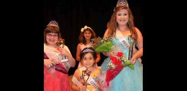 Front Row: 2014 Gorman Jr. Miss Peanut Queen Suellyn Hunter, Little Miss Peanut Queen Lily Madera, and Peanut Queen Kaeli Hines are shown with Jr. Miss Peanut Queen runner-up (back row) Keaira Ahearn.