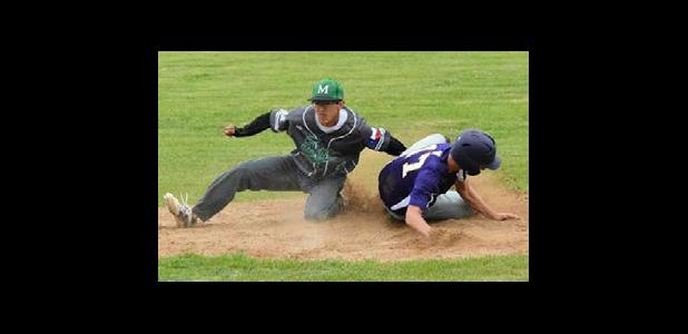 Christian Lopez makes the tag on a Buffalo at 2nd base!