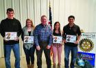 December and January Students of the Month pictured with Clint Coffee